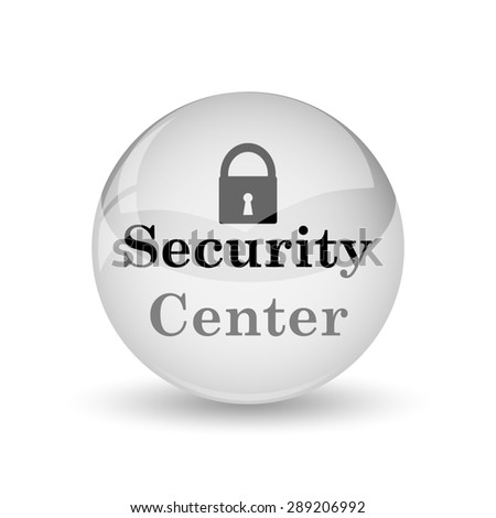 Security center icon. Internet button on white background