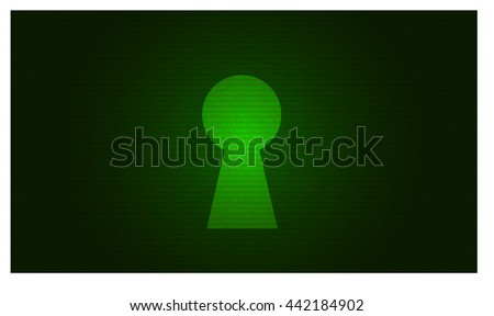 Security concept binary code in the keyhole. cybersecurity