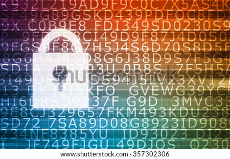Security Concept for Technology and Online Data - stock photo