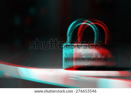 Security dimension - stock photo