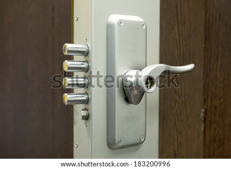 Security door lock