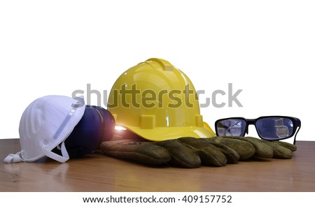Security functions in the refinery. Always wear safety equipment and personal protective equipment. - stock photo