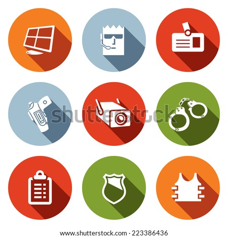 Security icon collection - stock photo