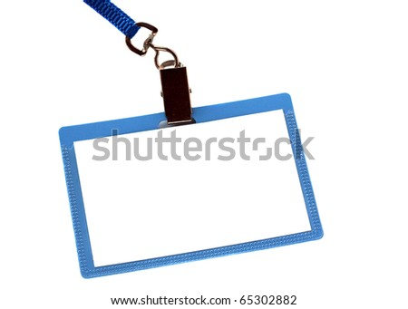 Security ID pass. Isolated on white, ready for your text. - stock photo