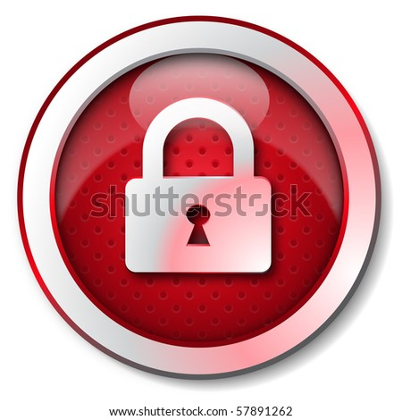 Security lock icon - stock photo