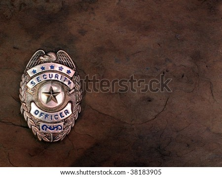 Security Officer Badge - stock photo