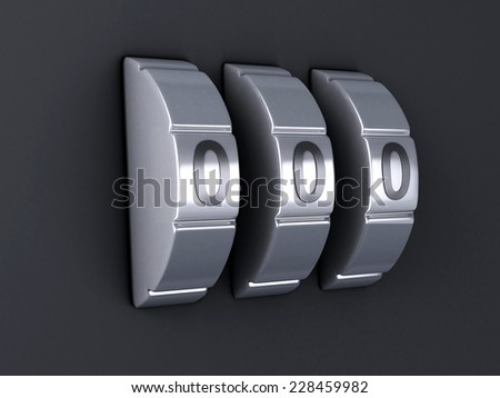 Security password combination. 3d illlustration - stock photo