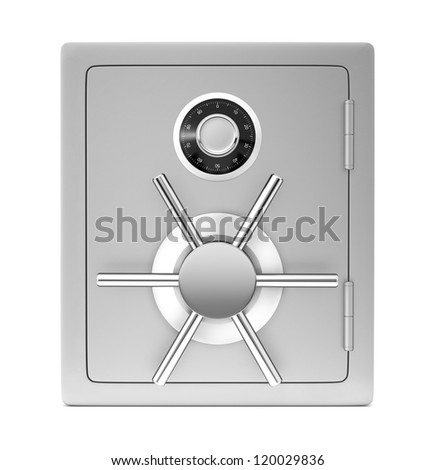 Security safe isolated on a white background.