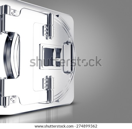 Security safe. Template business for branding. High resolution.