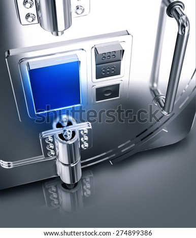 Security safe. Template business for branding. High resolution.  - stock photo