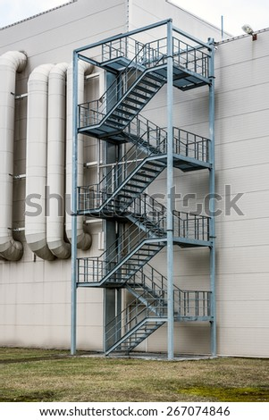 Security stairs in a building