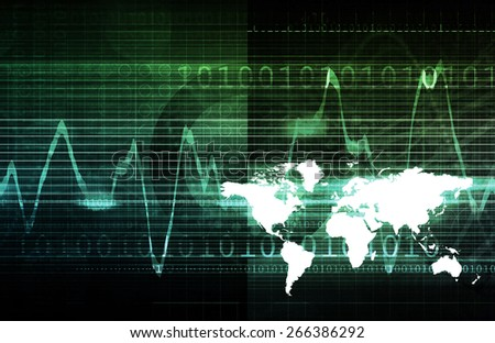 Security System for Database and Private Data background - stock photo