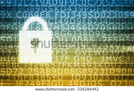 Security System Software and Technology Surveillance as Art - stock photo