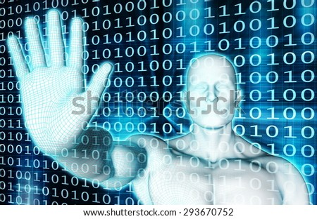Security System with Internet Safety Antivirus Scan - stock photo