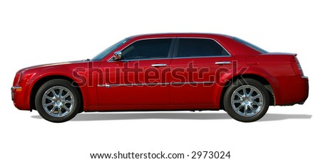 Sedan luxury car isolated over a white background.