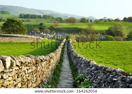 Sedber lane, Grassington, Wharfedale, Yorkshire Dales National Park,  - stock photo