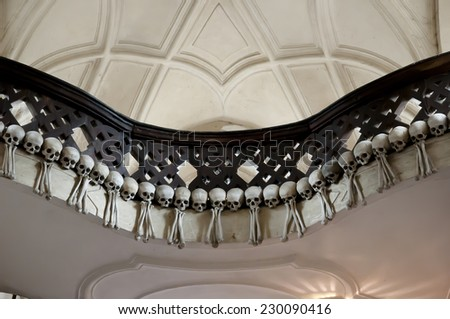 Sedlec Ossuary - Kutna Hora - Czech Republic - stock photo