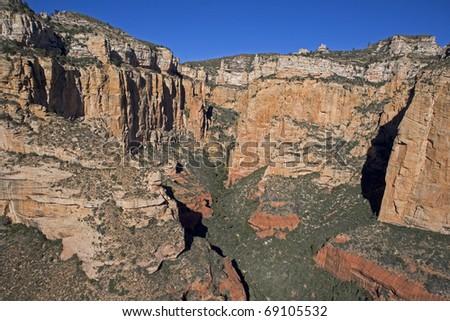 Sedona area, canyon walls - stock photo