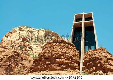 Sedona, Chapel of Holy Cross - stock photo