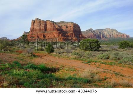 Sedona Red Mountains - stock photo