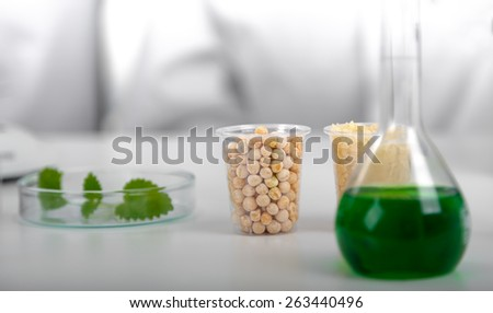 Seed subject to selection in Microbiological laboratory . - stock photo