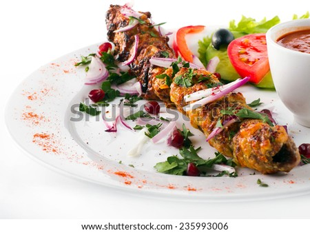 Seekh Kabab - stock photo