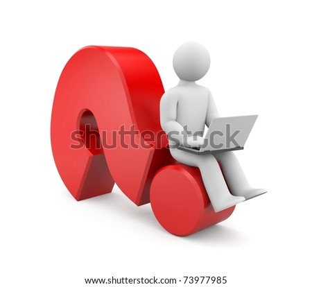 Seeking answer. Image contain clipping path - stock photo