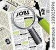 Seeking for a job - stock vector