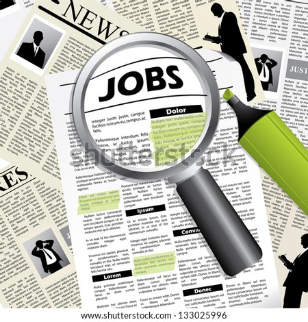 Seeking for a job - stock photo
