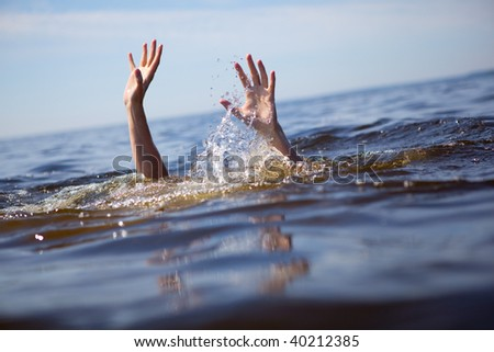 Seeking rescue. - stock photo