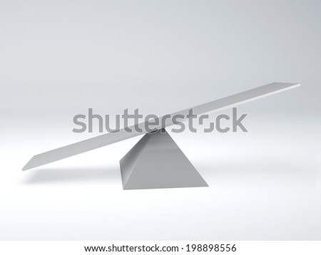 seesaw. Balance concept - stock photo