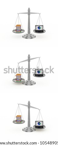 Seesaw: Books/Netbook 3 in 1. White background