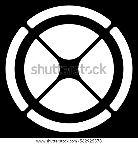 Segmented circle crosshair target symbol chart stock for Bullseye chart template