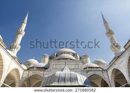 Sehzade Mosque, Istanbul, Turkey - stock photo