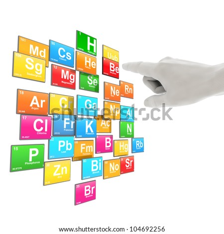 select chemical elements - stock photo