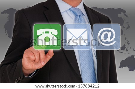 Select Contact Option - stock photo