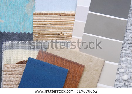 selection color for interior - stock photo