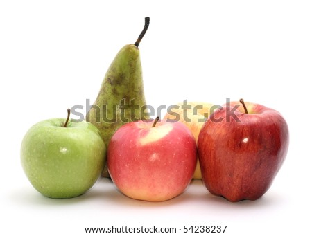 selection of apples - stock photo