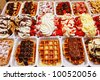 Selection of Belgian Waffles in Brussels - stock photo