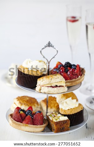 Selection of cakes - stock photo