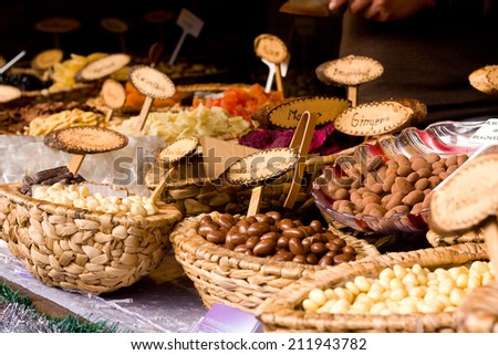 selection of chocolate sweets. - stock photo