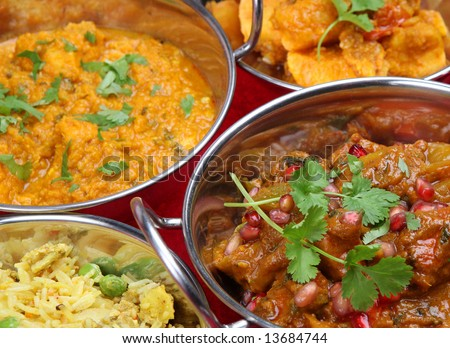 Selection of Indian Curries