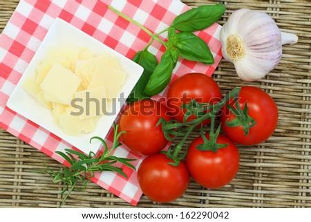 Selection of Italian ingredients  - stock photo