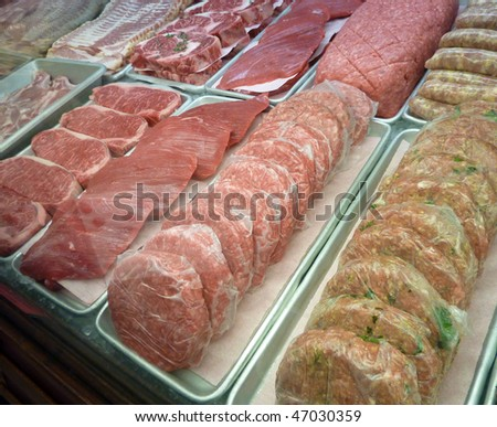 Selection of quality meat - stock photo