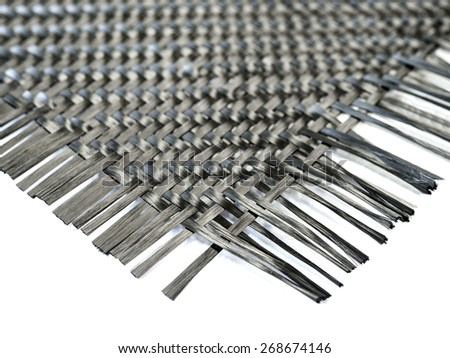 selective focus on nano carbon composite fiber in weave pattern - stock photo