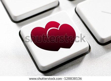 Selective focus on the heart button