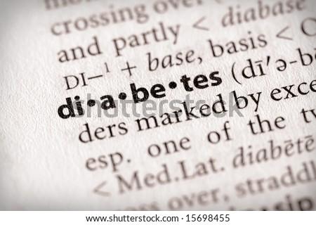 "Selective focus on the word ""diabetes"". - stock photo"