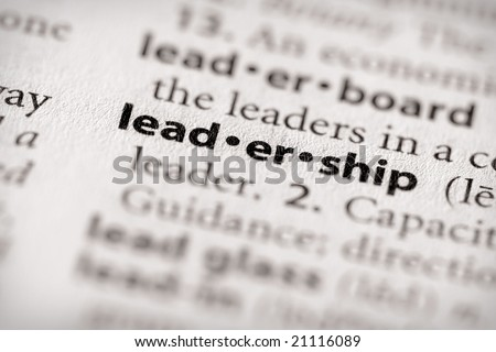 "Selective focus on the word ""leadership"". Many more word photos in my portfolio..."
