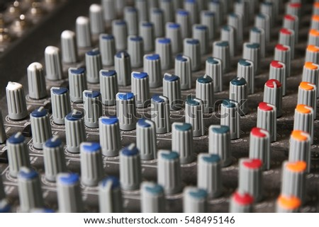 Selective focus on Volume control of mixer sound machine.
