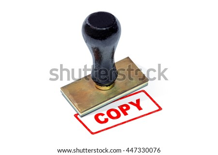 Selective focus on wording. Rubber stamp for paperwork to accept, reject, to practice, not practice, permit, allow, cancel, confidential, temporary, copies and other establishments in business company